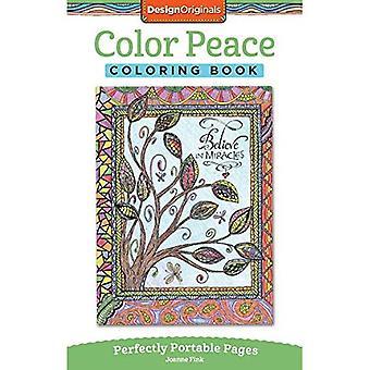 Kleur vrede kleurboek: Perfect draagbare pagina's (op de Ga kleurboek)