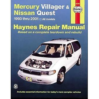 Mercury bybo och Nissan Quest Automotive Repair Manual: 1993 till 2001 (Haynes Service och bilreparationer manualer)