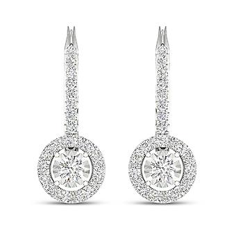 IGI-Certified-DeCouer-1/2-Ct-TDW-Diamond-10K-White-Gold-Diamond-Frame-Drop-Earrings-(H-I,-I2)