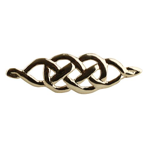 9ct Gold 9x35mm Celtic knot Brooch