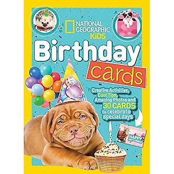 National Geographic crianças cartões de aniversário (livros de atividade) (livros de atividade)