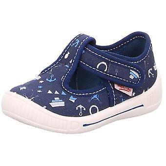 Superfit Boys Bully 4-265-80 scarpe di tela stampa blu marino