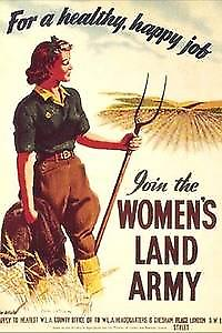 Womens Land Army steel wall sign