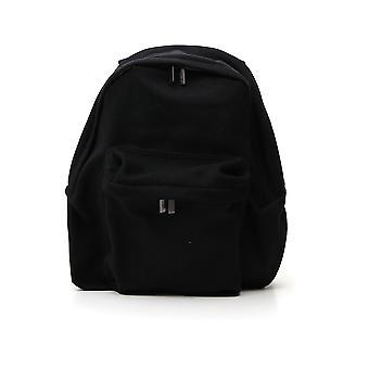 Yohji Yamamoto Black Polyester Backpack