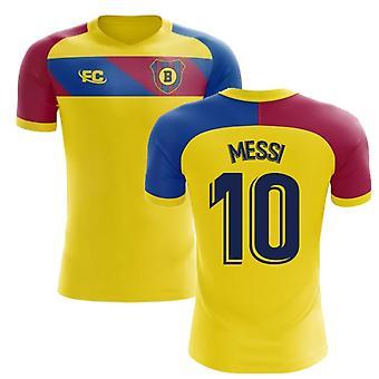 b1cd43440 2018-2019 Barcelona Fans Culture Away Concept Shirt (Messi 10)