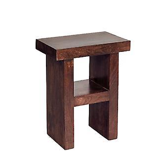 Phoenix Dark Mango H Shape Table/Stool