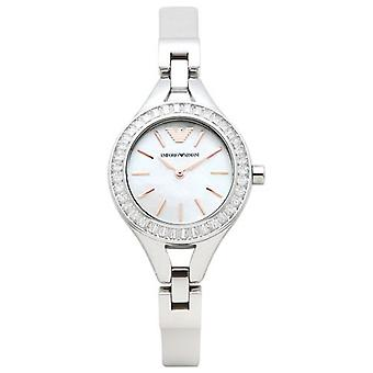 Emporio Armani Ar7426 Steel Bracelet Mop Dial Ladies Watch