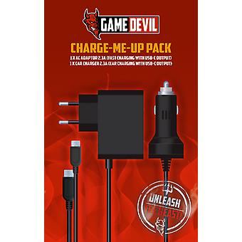 Nintendo Switch Charge Me Up Pack GameDevil  - Nintendo Switch HW/Accessories