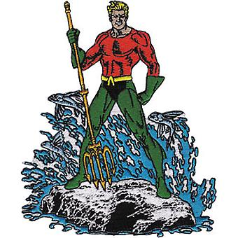 Patch - DC Comic - Aquaman standing Iron On Licensed Gifts Toys  p-dc-0007