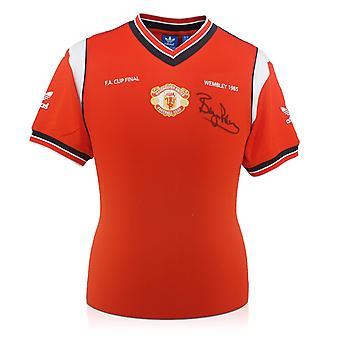 Bryan Robson Signed Manchester United 1985 FA Cup Final Shirt