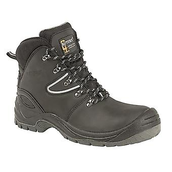 Grafters Mens Action Coated Leather Laced Hiking Boot