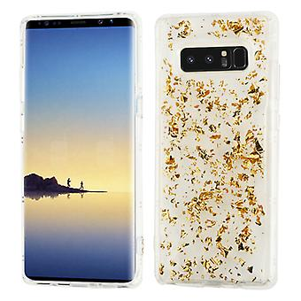 MYBAT Gold Flakes (Transparent Clear) Krystal Gel Series Candy Skin Cover for Galaxy Note 8