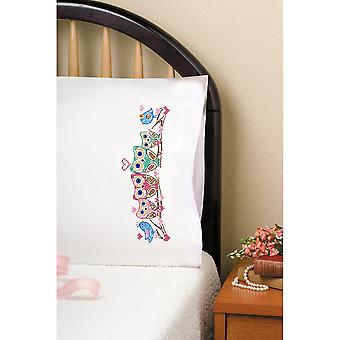Stamped Pillowcase Pair For Embroidery 20