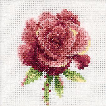 Red Rose Counted Cross Stitch Kit 4