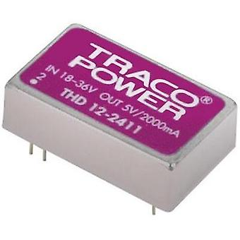 DC/DC converter (print) TracoPower THD 12-4812 48 Vdc 12 Vdc 1 A 12 W No. of outputs: 1 x