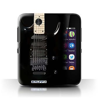 STUFF4 Case/Cover for Nokia Asha 230/Black Electirc/Guitar