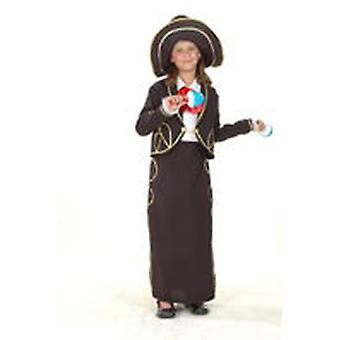 Dimasa Mariachi Girl Costume Size 4-6 Years (Enfants , Jouets , Deguisements)