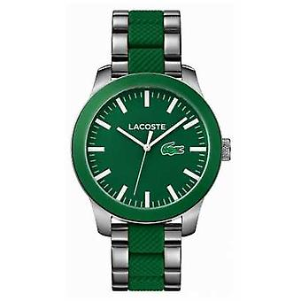 Lacoste Mens Green Rubber And Stainless Steel Strap 2010892 Watch