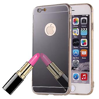 Mobile mirror mirror soft cover case protective case cover for Apple iPhone 6 plus / 6s plus black
