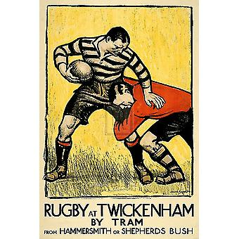Rugby at Twickenham Poster Print by The Vintage Collection (16 x 24)