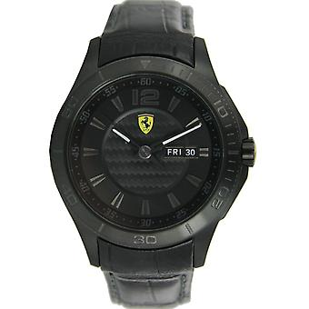 Scuderia Ferrari mens watch wrist watch analog quartz leather 0830093