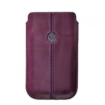 SAMSONITE DEZIR Mobile bag leather Purple to tex iP5 Highway
