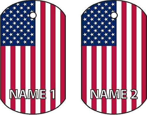 Personalised United States Dog Tag Car Air Freshener