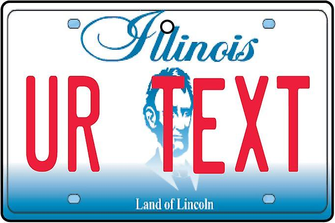 Personalised Illinois Numberplate Car Air Freshener