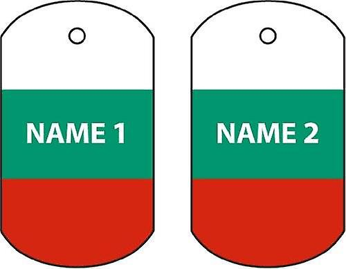Personalised Bulgaria Dog Tag Car Air Freshener