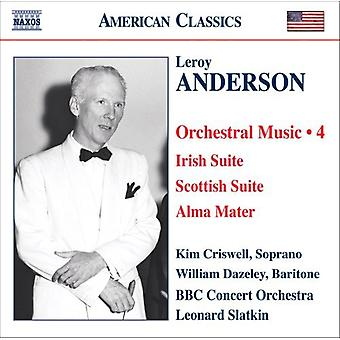 L. Anderson - Leroy Anderson: Orchestral Music, Vol. 4 [CD] USA import