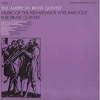 American Brass Quintet - Music of the Renaissance and Baroque for Brass Quintet [CD] USA import