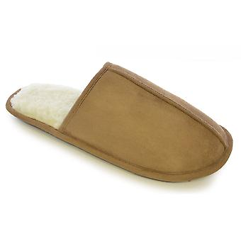 Mens Microsuede Uppers And Mock Shearling Fleece Lined Snugg Slipper FT0663