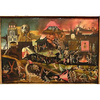 Hieronymus Bosch - Christ in Limbo Poster Print Giclee