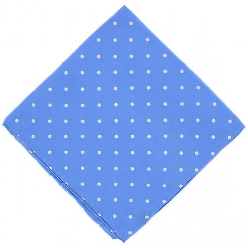 Michelsons of London Polka Dot Silk Handkerchief - Ice Blue