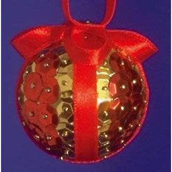 Pinflair Sequin & Pin Craft Kit to Make 10 Red Christmas Baubles