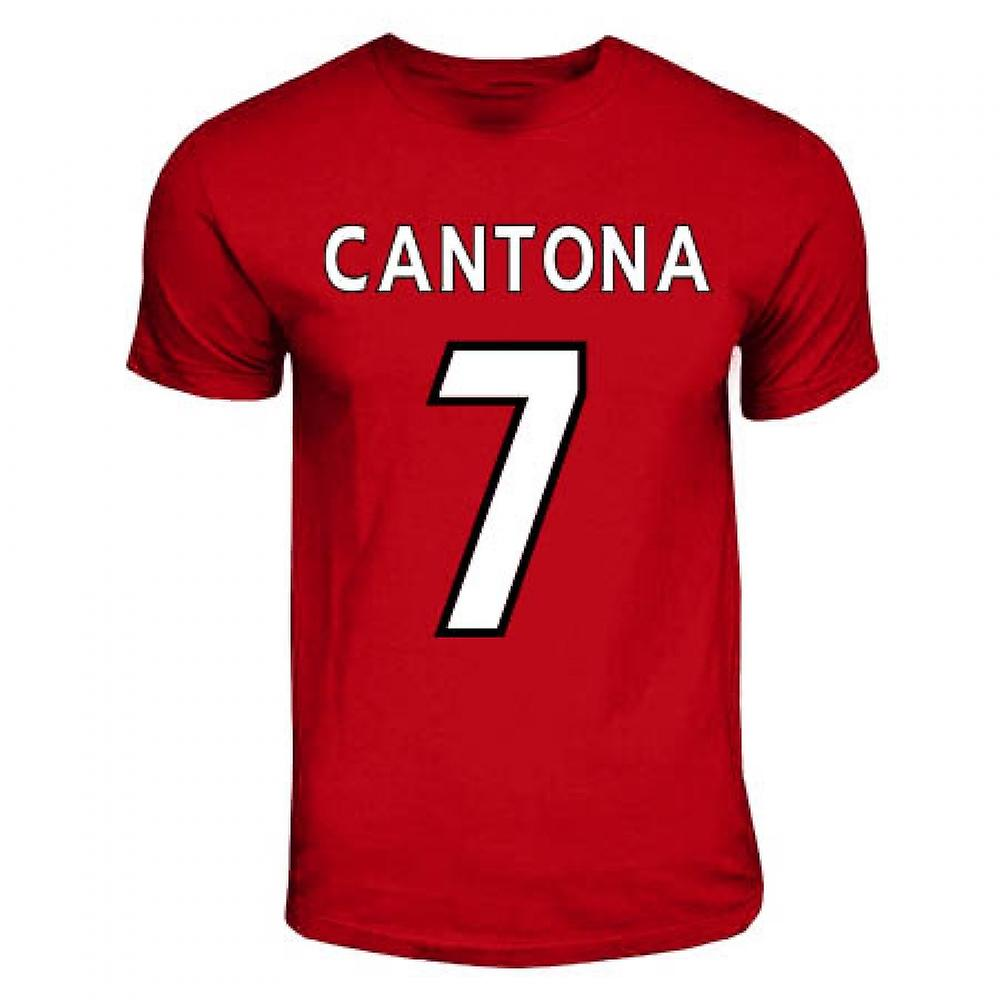 Eric Cantona Manchester United Hero T-shirt (rouge)