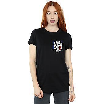 Looney Tunes Women's Pepe Le Pew Face Faux Pocket Boyfriend Fit T-Shirt