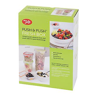 Tala Push and Push Set of 4 Storage Containers