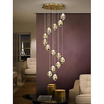 Schuller spanska guld moderna 14 LED tak Spiral kluster pendel