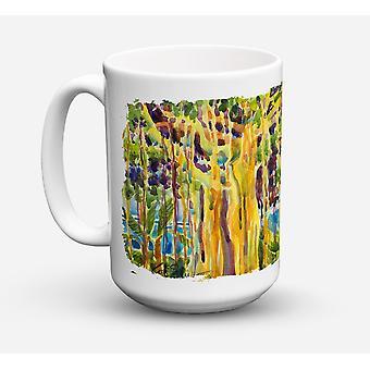 Arbre - Banyan Tree lave-vaisselle sûre pour micro-ondes céramique café tasse 15 oz