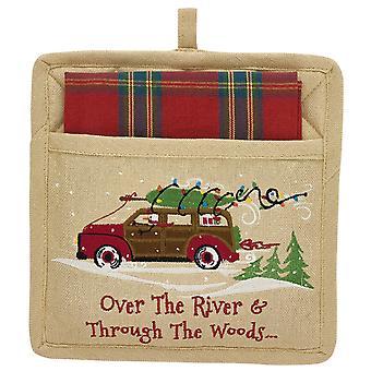 عن طريق سيارة وودز إحالة عطلة شجرة بوثولدير جيب وطبق منشفة مجموعة