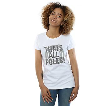Looney Tunes Women's That's All Folks Text T-Shirt