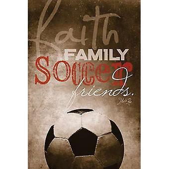 Faith Family Soccer Poster Print by Marla Rae (12 x 18)