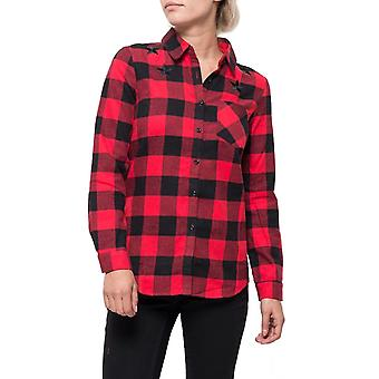 Checked Western Style Loose Shirt