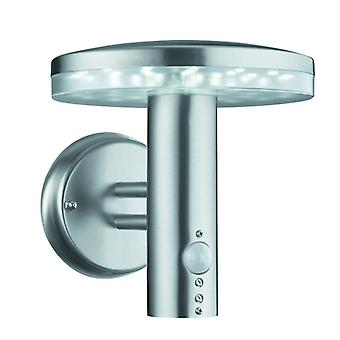 Stainless Steel Led Outdoor Wall Light With Motion Sensor - Searchlight 4774