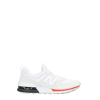 New balance men's NBMS574AWD12 White leather of sneakers