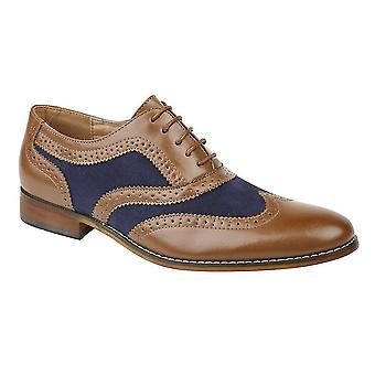 Roamers Boys 5 Eye Brogue Oxford Shoes