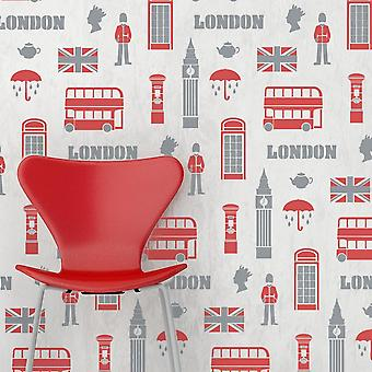London Wallpaper Stencil