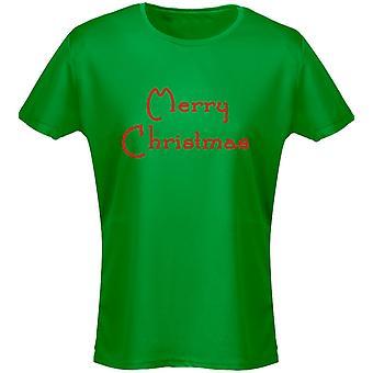 Feliz Navidad Navidad presente mujeres camiseta 8 colores por swagwear