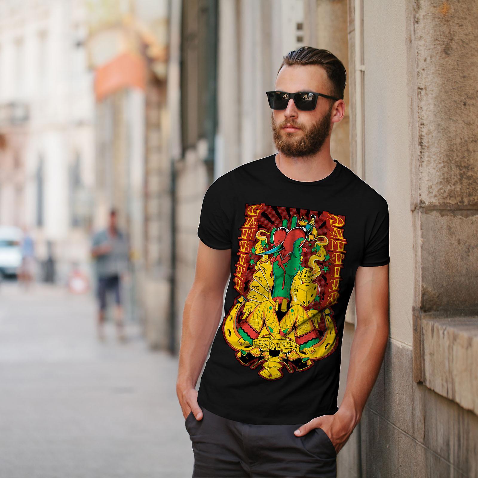 Juego corazón Sexy Casino BlackT-camisa de los hombres | Wellcoda